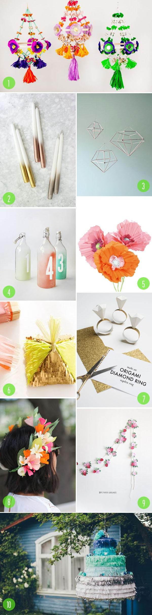 Top 10: wedding DIY projects