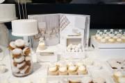 all white dessert table