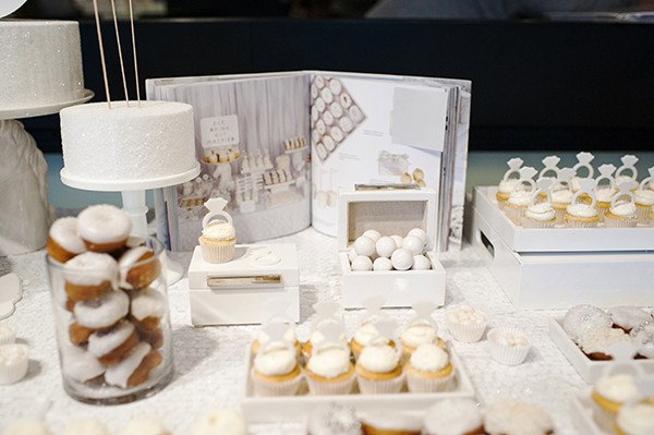 all white dessert table