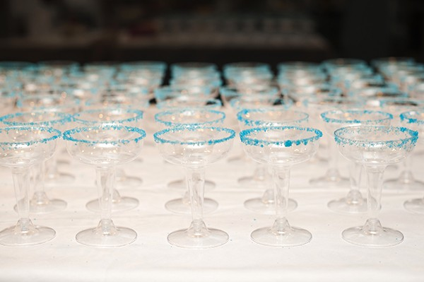blue rimmed drinks