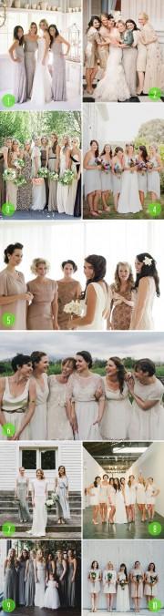 neutral bm dresses