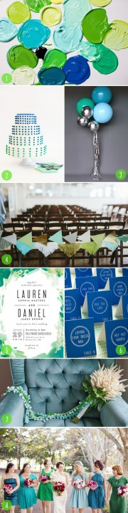 blue green palette