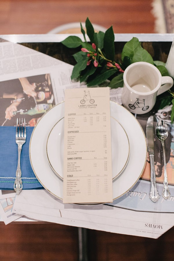 coffeeshop menu setting