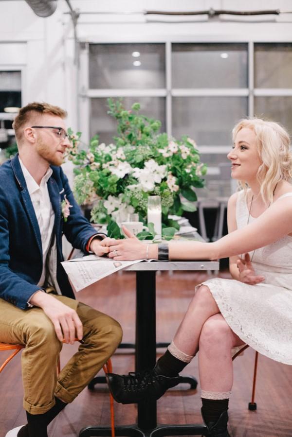 coffeeshop wedding