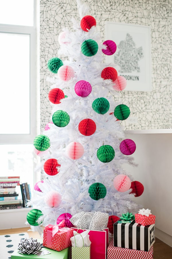 modern bright christmas tree