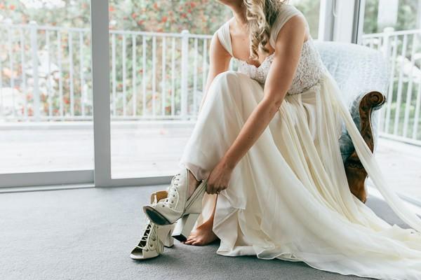 wedding booties