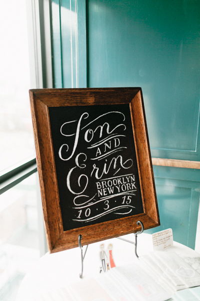 calligraphy chalkboard sign