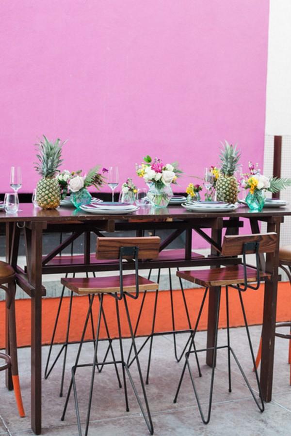bold colorful tablescape