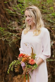 bridesmaid in white