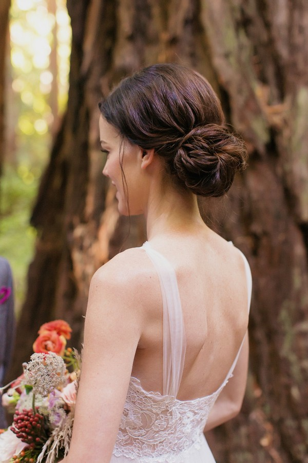 chic bridal chignon