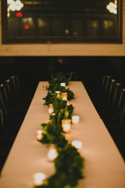 garland runner centerpiece