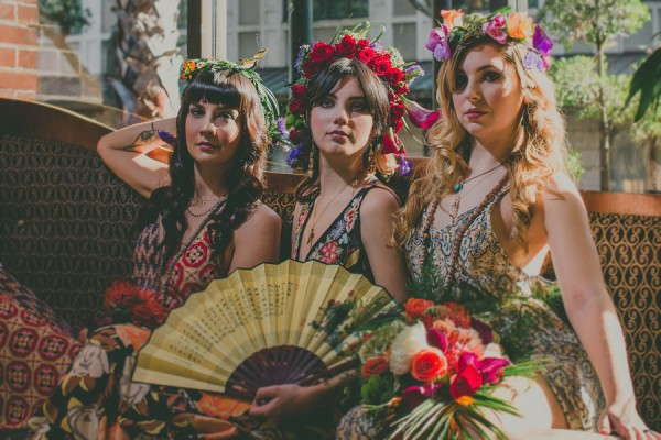 frida kahlo inspired bridesmaids