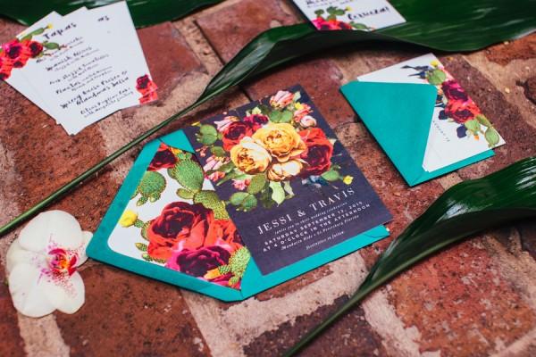 frida kahlo wedding invitation