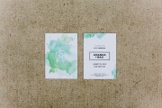 green watercolor invitation