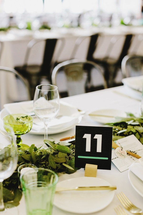 modern green tablescape