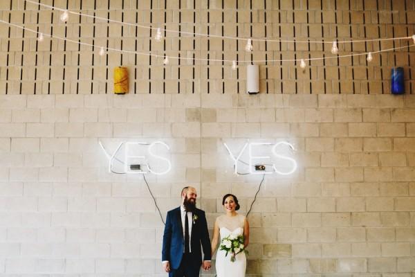 neon signs at wedding