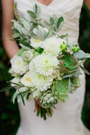 modern green bouquet