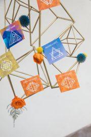 geometric escort cards