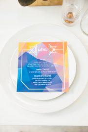 geometric menu
