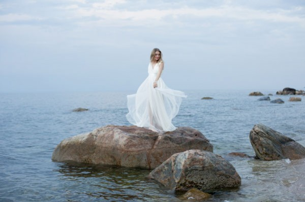 beachy wedding dress