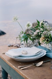 beach inspired tablescape