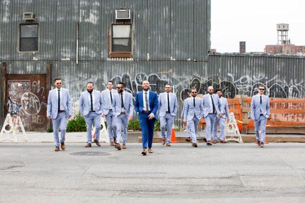 blue groomsmen