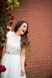 cropped wedding dress