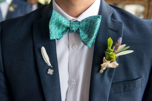turquoise bowtie