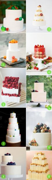 fruit topped cakes