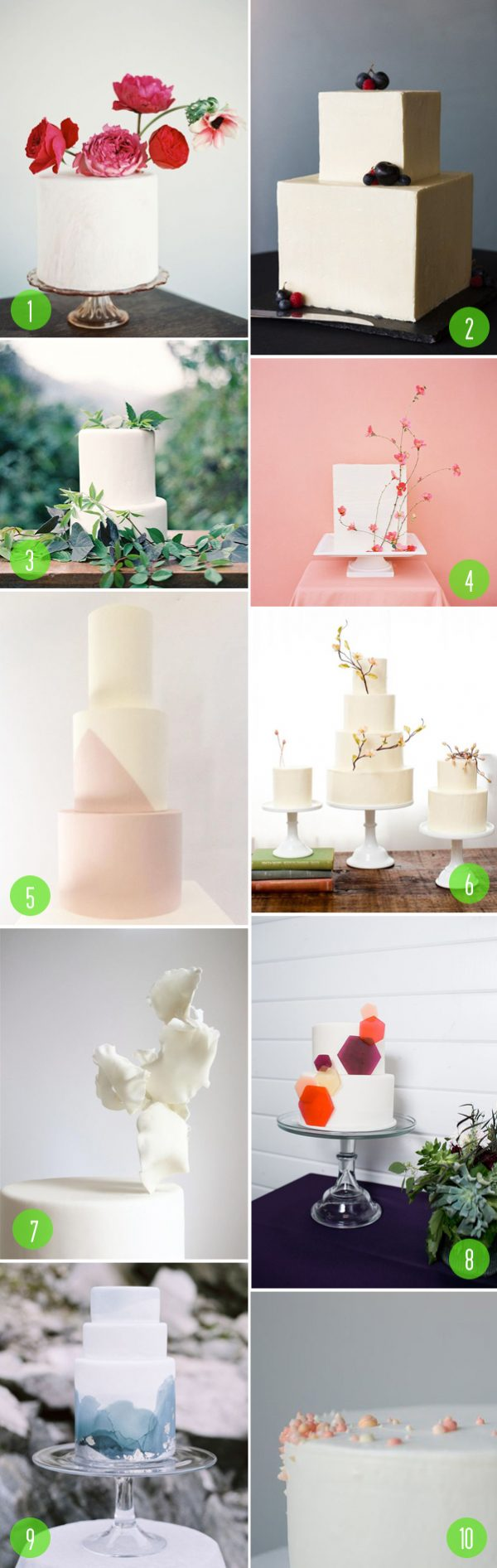 Top 10: Minimal wedding cakes - Brooklyn Bride - Modern Wedding Blog
