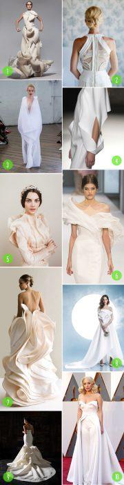 sculptural dresses