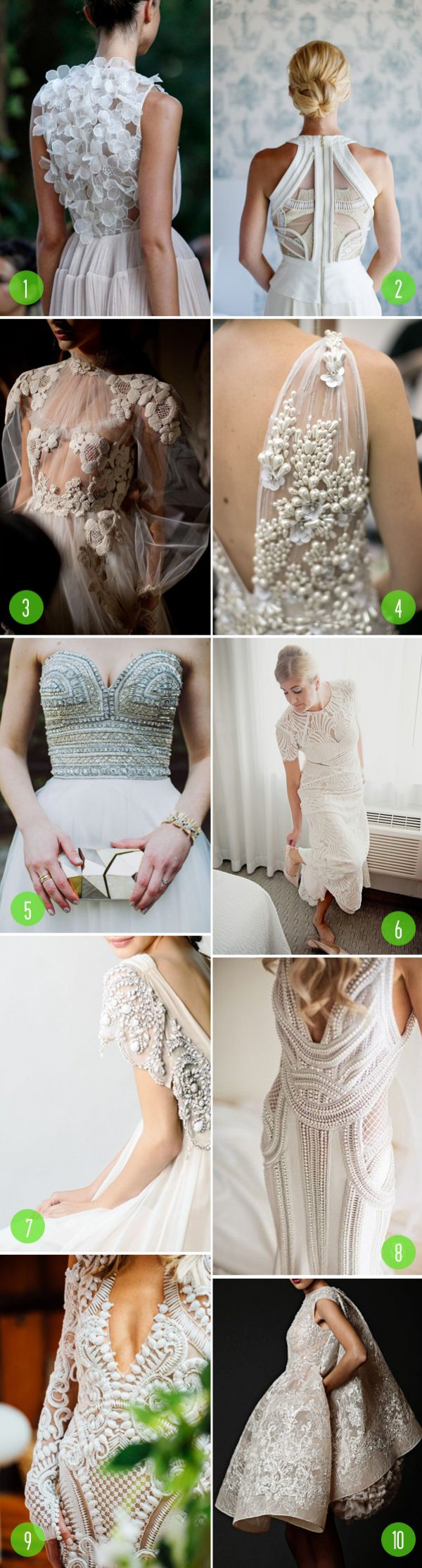 Top 10: Wedding dress details 3