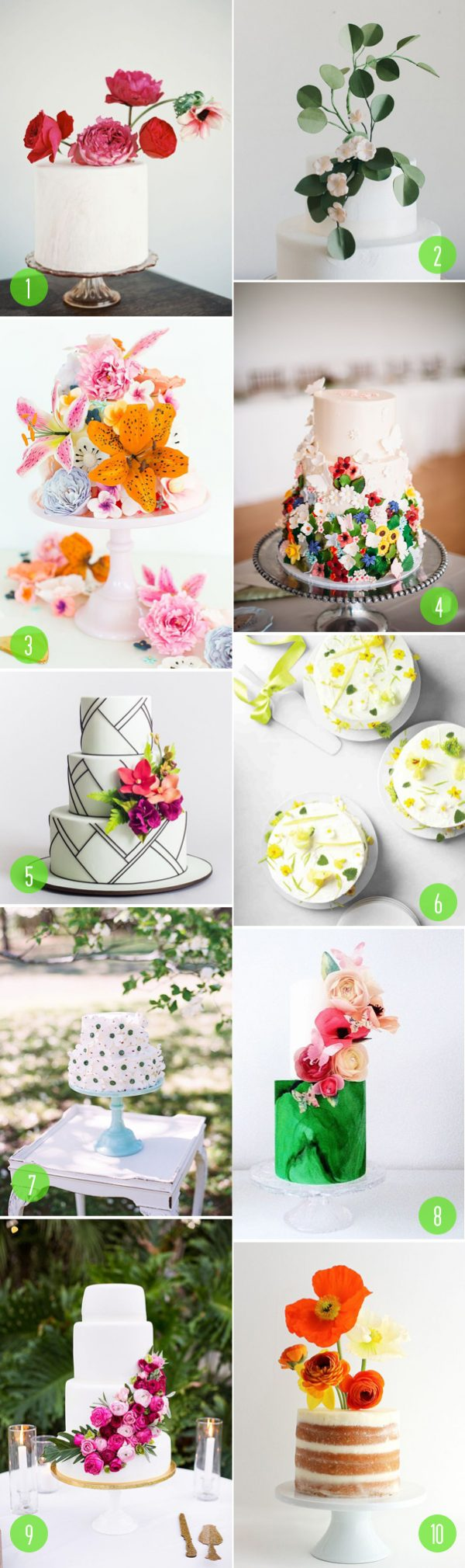 top 10: floral cakes
