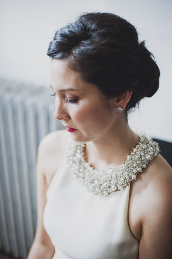 adorned collar wedding dress