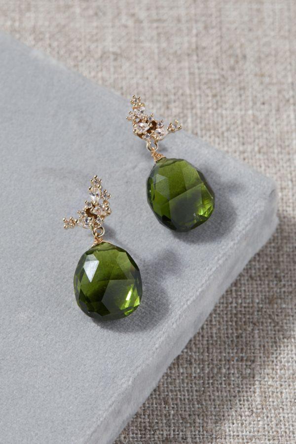 10 Bright + Bold Wedding Earrings 4