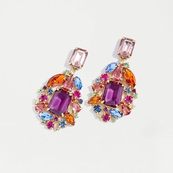 10 Bright + Bold Wedding Earrings 1