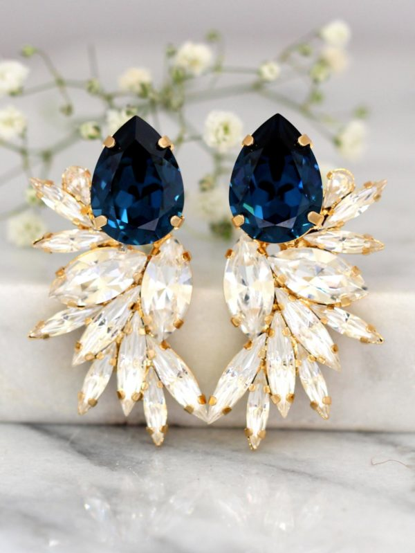 10 Bright + Bold Wedding Earrings 7