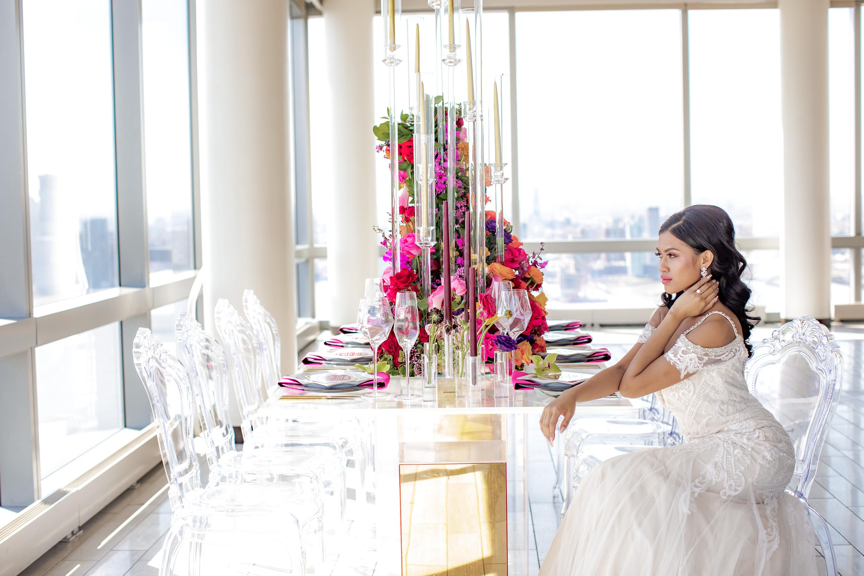 Acrylic Chairs Wedding Reception