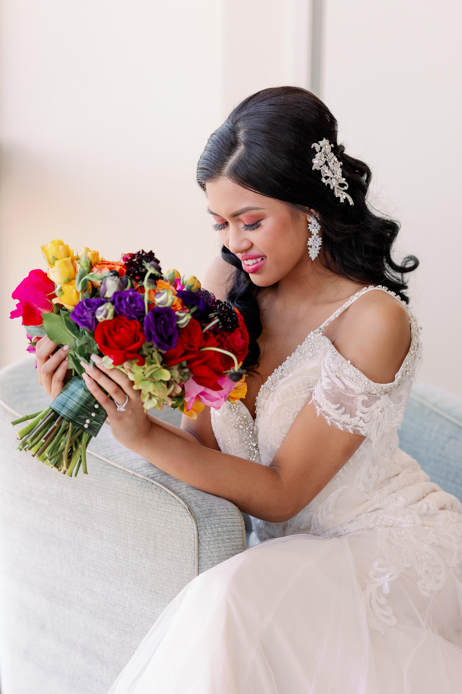 Bold Modern Elegant Wedding Portrait