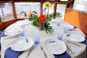 Bold and Tropical Wedding Tablescape