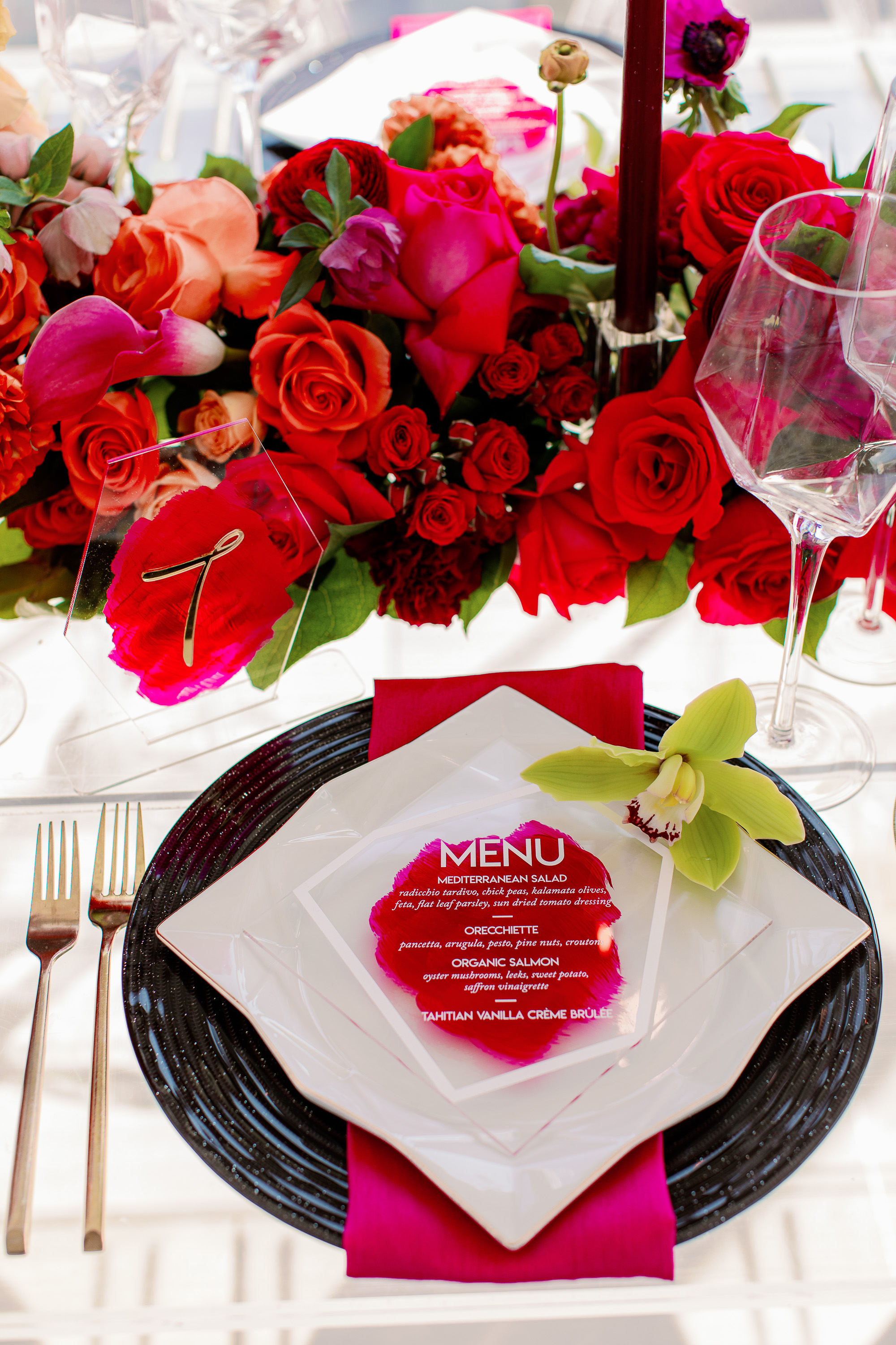 Colorful Wedding Place Setting