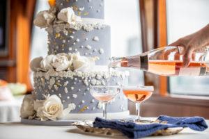 Modern Nautical Wedding Cake