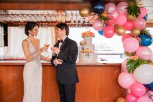 Modern Tropical NYC Yacht Wedding by Veronica Phogoraphy-20