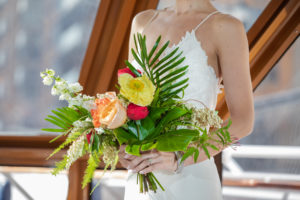Modern Tropical Wedding Bouquet
