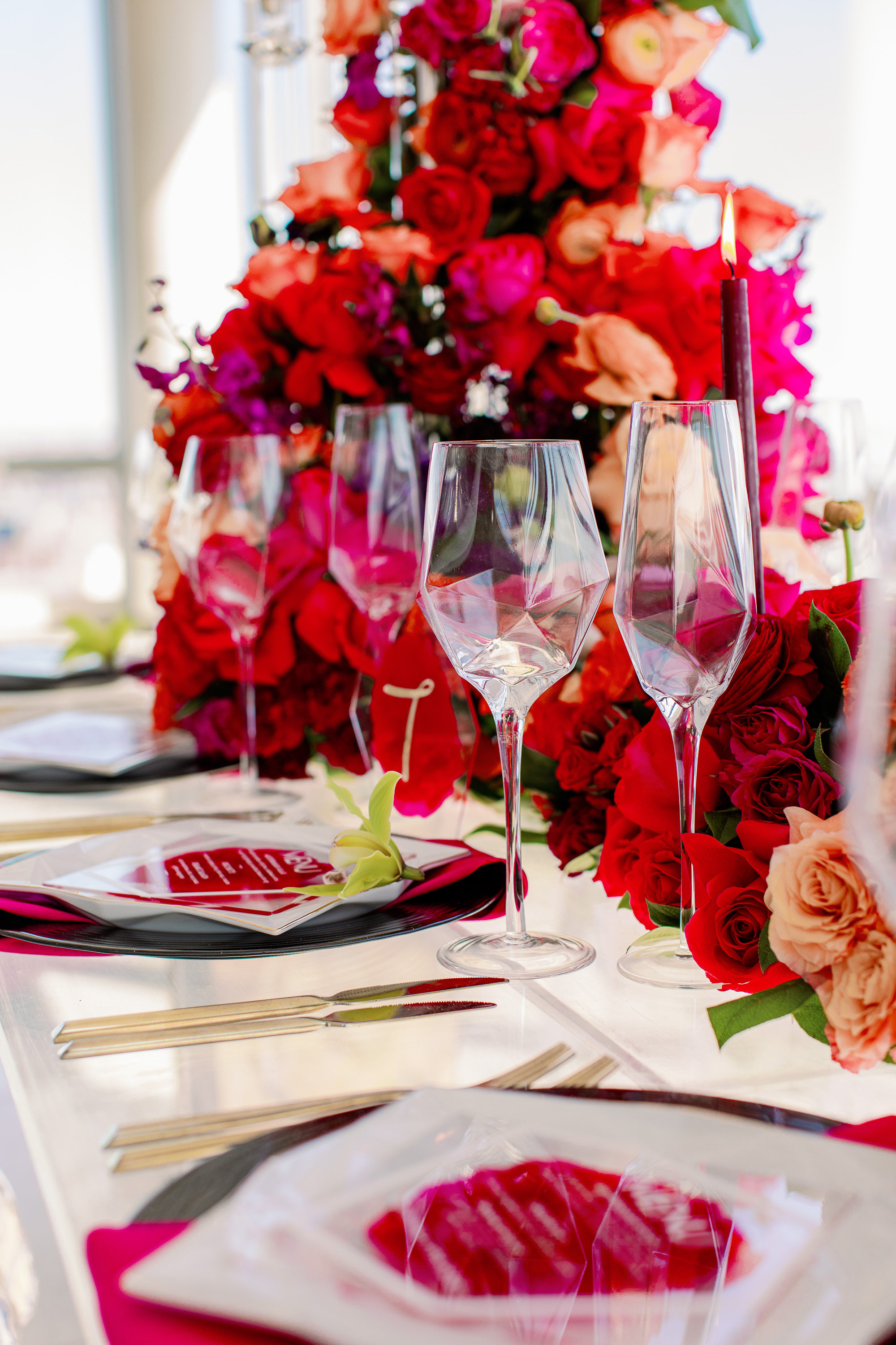 Origami Inspired Wedding Tablescape