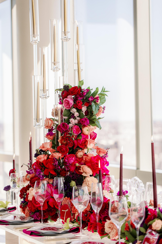 Tall Bold Modern Wedding Centerpiece