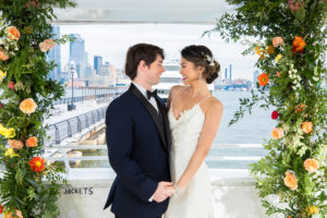 Tropical Floral Wedding Ceremony Arch