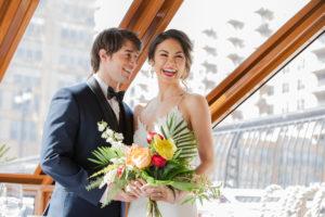 Tropical Yacht Wedding Portrait