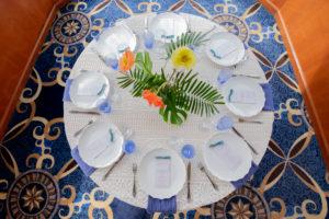 Tropical Yacht Wedding Tablescape