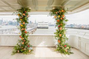Yacht Wedding Ceremony Arch Decor